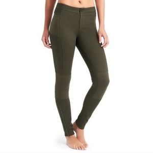 Athleta Yosemite Green Trailsetter Moto pant